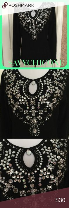 🎅NWOT BEAUTIFUL EMBELLISHED SWEATER NWOT goreous jeweled sweater!  Fabulous top for the holidays🍾 Tops