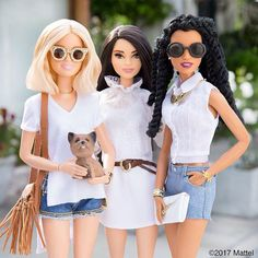 From our squad to yours, hope your weekend is white hot. #barbie #barbiestyle