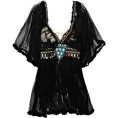 One Vintage Kaylee dress (€1.320) ❤ liked on Polyvore featuring dresses, tops, shirts, one vintage, women, vintage embroidered dress, vintage caftan, vintage black cocktail dress, black ruched dress and black cocktail dresses