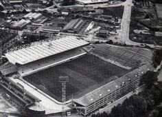 Hillsborough from the air. Sheffield Wednesday Fc, British Football, Sports Stadium, Football Stadiums, Old Pictures, Terrace, Around The Worlds, Old Things, English