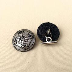 Cufflinks made from antique buttons. by DanuttaHandGallery on Etsy