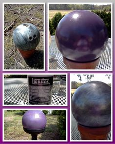 re-purposed an old bowling ball into a gazing ball for my yard :)