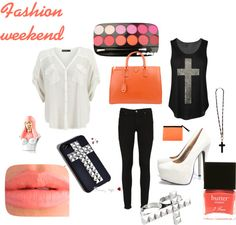 """""""Fashion weekend"""" by michalka-smisek ❤ liked on Polyvore"""