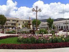 Región Ancash, capital Huaraz. Plaza de armas