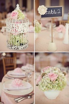Shabby Chic Little Birdie Themed Baby Shower // Hostess with the Mostess®