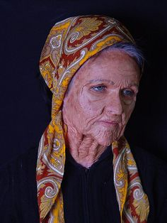 6. Old Age -- Old Age This is a very realistic example of an old age makeup application.
