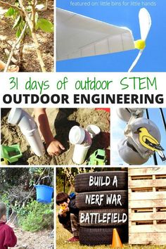 Outdoor engineering activities for kids STEM and the 31 Days of Outdoor STEM series summer learning-2