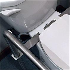 Handicapped Toilet Assist Grab Bar Add-Ons – Fixtures Close Up Handicap Toilet, Grab Bars, Sink, Decor, Sink Tops, Decorating, Dekoration, Deco, Sinks