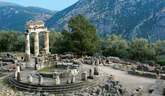 Temple at the famous site of Delphi