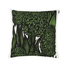 Hyasintti cushion cover - green-white - Marimekko