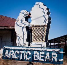 Arctic Bear sign, Albany, Georgia