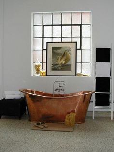 Bathroom With Showstopping Copper Bathtub | House & Home