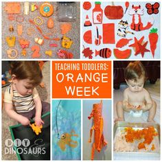 The best teaching agenda for busy stay at home moms! Definitely using this.  Teaching Toddlers: Orange Week (for Kiddos 15+ Months) diyanddinosaurs.com