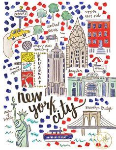 #WALLPAPER GRATIS super carino per il tuo telefono adorato! (•◡•) Tante altre idee cool per le mamme sul sito ❤ mammabanana.com ❤ New York City Map, Ny Map, Evelyn Henson, Voyage New York, Empire State Of Mind, I Love Ny, Travel Illustration, Travel Maps, Poster