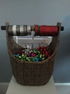 Gift wrap organizer / Thirty-One magazine basket