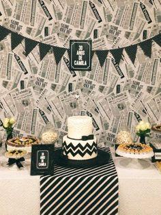 festa do jornal | festa de 30 anos p&b | black and white party