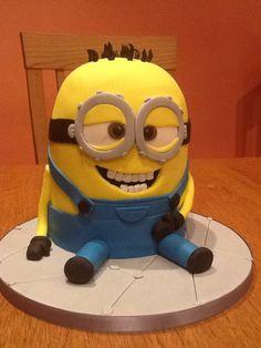 My minion cake how cute