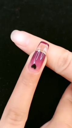 Simple Acrylic Nails, Almond Acrylic Nails, Simple Nails, Best Acrylic Nails, Nail Art Designs Videos, Nail Art Videos, Nail Designs, Fiberglass Nails, Asian Nails