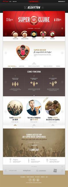 Super Clube - Super Bock on Web Design Served #webdesign