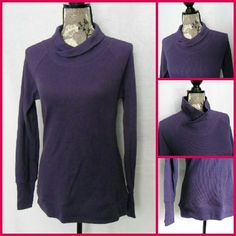 "Sz Med, Columbia LS Sportswear Top Dark Pruple, Columbia Sportswear, Omni-wick, Advanced Evaporation...Excellent Condition... 100%Cotton | Measurements, flat and not stretched | Chest - 18"" across from underarm to underarm 