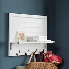 Shiplap Shelf with Hooks