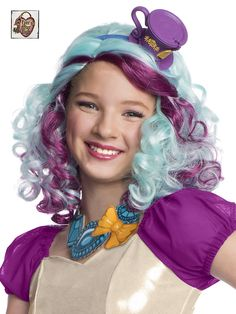 child madeline hatter wig with headpiece up halloween costumetrendy