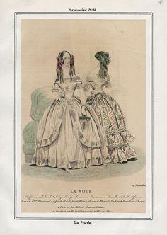 La Mode November 1840 LAPL