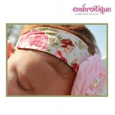 In the Hoop Headband with Elastic  all hoop sizes by Embroitique, $6.99