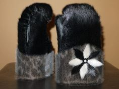 Inuit made sealskin mitts by Mary Aitchison