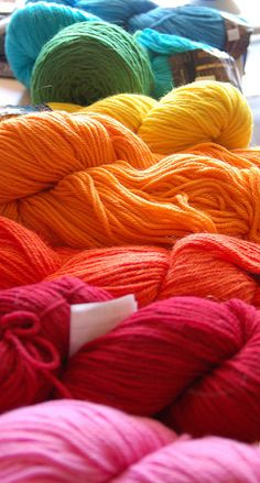 all colors & types of yarn, always have a project to crochet in the works~