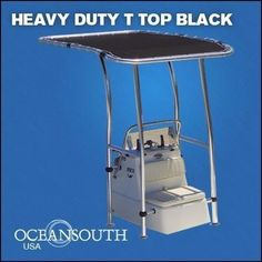 Heavy Duty Boat T Top Black, For Standard Center Console, aluminum tube #Oceansouth