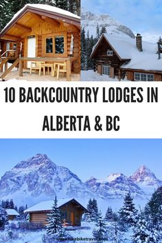 10 backcountry lodges in Rockies of Alberta & British Columbia that are fantastic for nights in both summer and winter. Many of them require that you visit on foot or by skis Alberta Canada, Calgary, The Places Youll Go, Places To Go, Alberta Travel, Canada Destinations, Getaway Cabins, Visit Canada, Winter Hiking