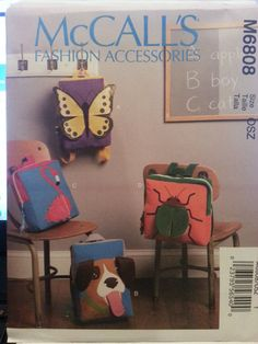 McCall's Pattern M6808 Kids' Backpacks 4 styles New FREE SHIPPING