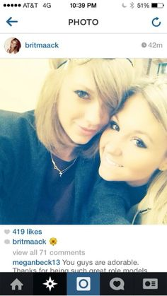 Insta post from @Britany Maack visiting Taylor in NYC 3/28/14