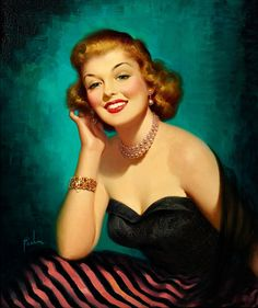 Fantastically fashionable - and oh-so-gorgeous! #vintage #pinup #girl #art #1940s #hair