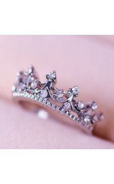 Sparkle Princess Crown Ring for Girls