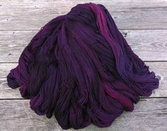Beetroot yarn- naturally dyed with cochineal and indigo - gorgeous saturated color!
