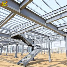 Steel is an ideal; material which is used in the construction of the building. It is not only used is garages and large agriculture buildings but also useful for making the building structure… Steel Structure Buildings, Great Buildings And Structures, Metal Structure, Building Structure, Brick Building, Construction Container, Steel Frame Construction, Construction Design, Steel Frame House