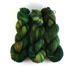 Hand Dyed Yarn Merino Fingering Sock Dark Green by FiberFangirl