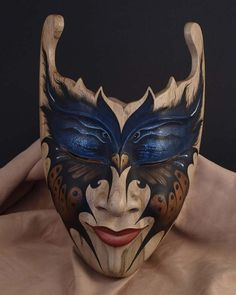 Indonesian painted wooden mask