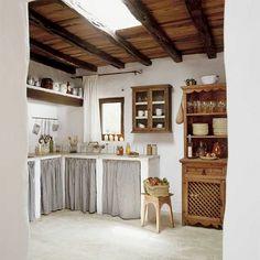 New Farmhouse Style Kitchen Curtains Fabrics Ideas Rustic Kitchen Cabinets, Farmhouse Style Kitchen, New Kitchen, Kitchen Small, Kitchen Rustic, Kitchen Countertops, Kitchen Country, Kitchen Island, Country Farmhouse