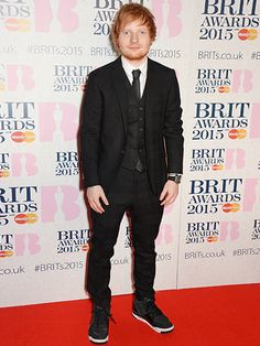 Ed Sheeran attends the Brit Awards 2015