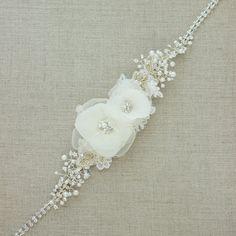 Wedding dress belt Bridal sash Bridal sashes by LeFlowers on Etsy