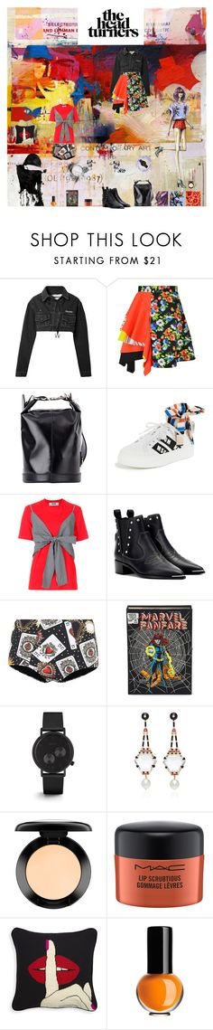 """""""All Over the Place..."""" by sue-mes ❤ liked on Polyvore featuring Off-White, MSGM, Acne Studios, Dolce&Gabbana, Olympia Le-Tan, MAC Cosmetics and Kosta Boda"""