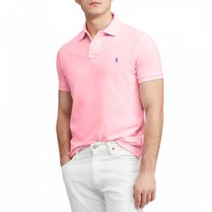 Polo Ralph Lauren Men's Classic-fit Mesh Polo In Taylor Rose Mens Golf Fashion, Ralph Lauren Logo, Slim Fit Polo Shirts, Men Looks, Mesh, Outfit, Mens Tops, Clothes, Casual Attire