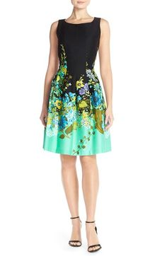 Chetta B 'Magic' Floral Print Fit & Flare Dress available at #Nordstrom