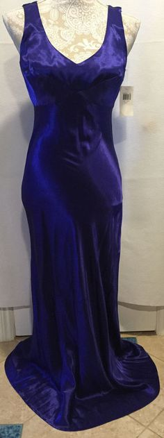 Rampage Blue Homecoming Formal Wedding Cocktail Evening Full Length Dress Sz 7…