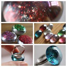 DIY nail polish rings