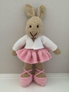 Knitted Ballerina  Ballet Bunny Knitted от EightLittleFingers