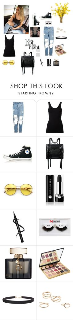 """""""CASUAL LOOK"""" by femina-mode ❤ liked on Polyvore featuring Topshop, Theory, Converse, McQ by Alexander McQueen, Wildfox, Marc Jacobs, Morphe, Gucci, tarte and Humble Chic"""